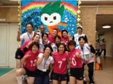 大阪市女子チームと大会サポーター