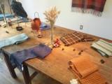 竹村優利佳 展示会『羊毛から紡ぎ生まれた布たち』