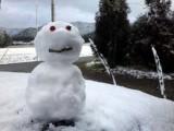 ちっこい雪だるま