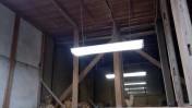 作業場の蛍光灯交換
