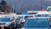 福島県庁東分庁舎の放射性物質仮置き場