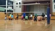 聾学校で和太鼓練習