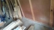 材木置き場の整理中